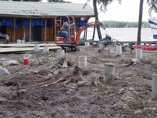 Fishing canada at goose lake ontario featuring the new for Concrete pilings for house