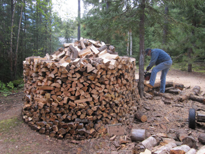 Round Firewood Pile These Great Round Piles